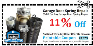 11% Off Garage Door Spring Repair in St. Paul Coupon