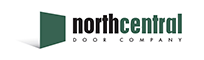 Black and green text for the north central logo with a transparent background.